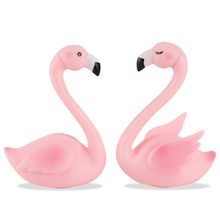 3D Glue Flamingo Figurine Pink Swan Sitting Position Wedding Birthday Party Cake Decoration Children Birthday Gift Toys(China)