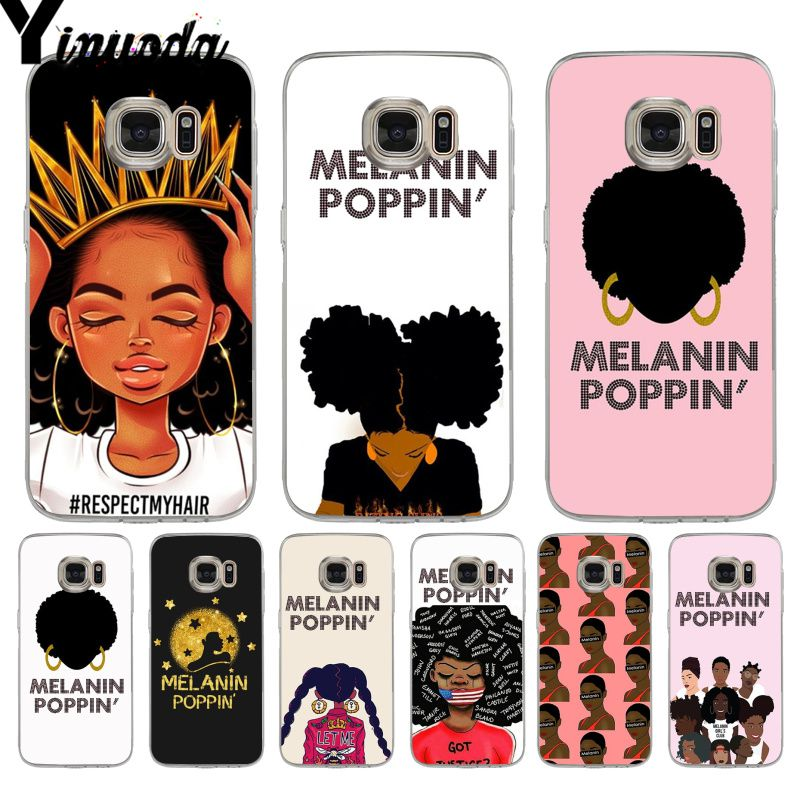 Yinuoda Melanin Poppin Black Gir Unique Design Phone Case For Samsung Galaxy S9 S7edge S6 Edge Plus S8 Plus S7 Note 9 Extremely Efficient In Preserving Heat Clothing, Shoes & Accessories