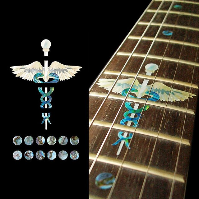 Fretboard Markers Inlay Sticker Decals For Guitar Caduceus Symbol