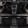 Tapetes de coche especial hecho para Toyota Hilux 6D completo caso de la cubierta del coche de estilo alfombra alfombras de PVC de cuero perfecto liners (2004-2015)