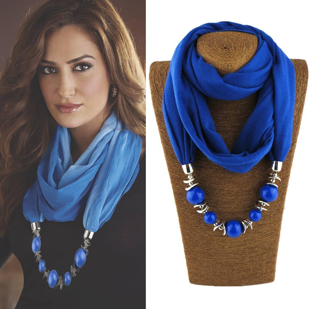 9 colors ethnic unique scarf necklaces resin beads pendant 9 colors ethnic unique scarf necklaces resin beads pendant neckerchief statement necklace wraps women bohemia necklaces jewelry aloadofball Images