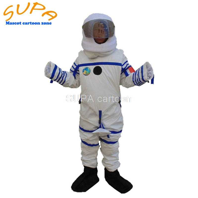 High quality white space suits cosplay astronaut costume with helmet theme party fancy dress uniform for mens