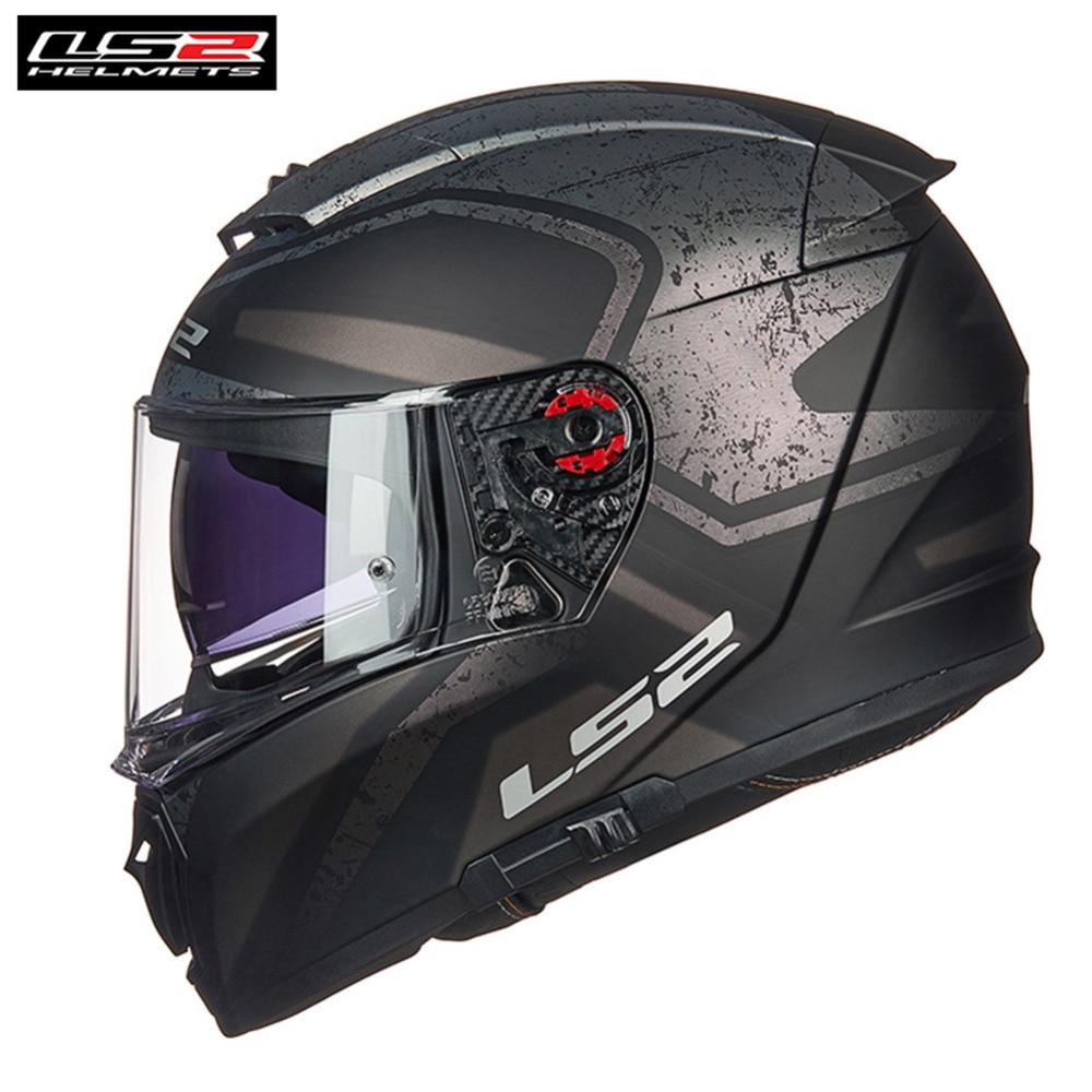 * Livraison PINLOCK * LS2 FF390 Disjoncteur Plein Visage Moto Casque Hommes Racing Casque Casco Moto Capacetes de Motociclista Moteur barre