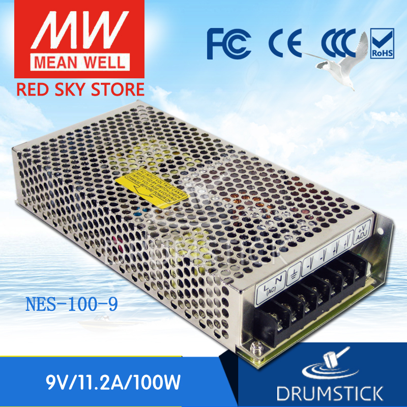 Best-selling MEAN WELL NES-100-9 9V 11.2A meanwell NES-100 100.8W Single Output Switching Power Supply best selling mean well se 200 15 15v 14a meanwell se 200 15v 210w single output switching power supply