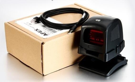 Всенаправленный 1D/2D ПЗС сканер штрихкодов для супермаркет USB POS считывания штрих-кода автоматического сканирования