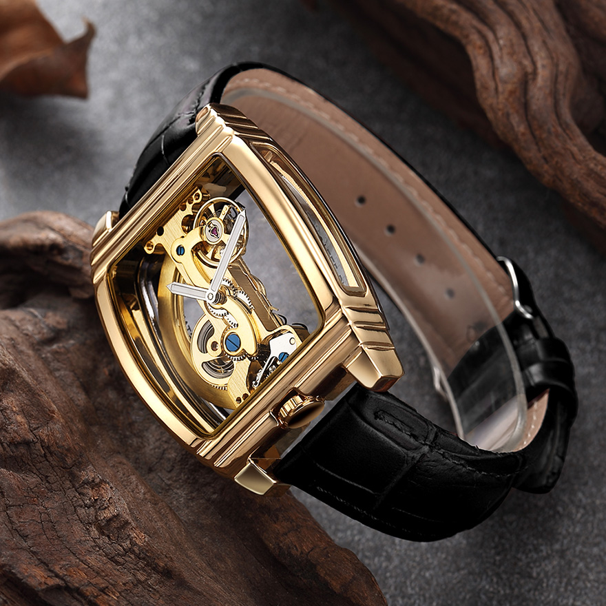 HTB15sZLSr2pK1RjSZFsq6yNlXXaI Transparent Automatic Mechanical Watch Men Steampunk Skeleton Luxury Gear Self Winding Leather Men's Clock Watches montre homme