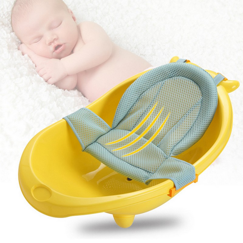 ummer Newborn Baby Bath Seat Net Bed Cushion Pillow Pad Support Accessories for Baby Tub ...