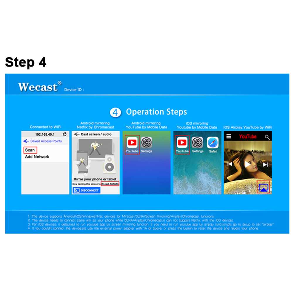 WiFi Wireless Display Smart TV HD Dongle Airplay TV Receiver Miracast For  Netflix YouTube Crome Chrome Cast TV Stick