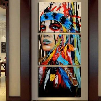 Painting explosion model triple inkjet India canvas painting Hotel gallery art painting home decoration painting  3