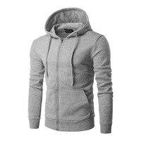 Plus Size L-XXL Men's Casual Hoodies Sweatshirt 2017 New Fashion Slim Fit Cotton Men Hooded Tracksuit Zipper Type Hoody Jackets