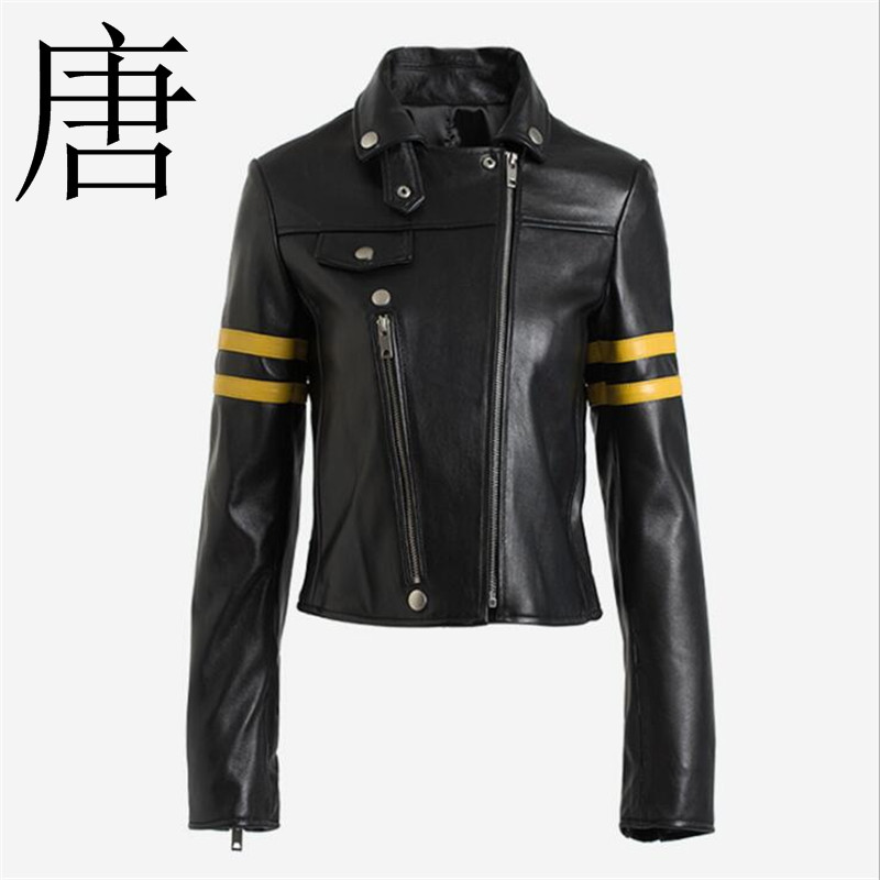 Tang cool High-temperament   leather   jacket 2019 new style fashionable   leather   jacket locomotive clothing street fashion