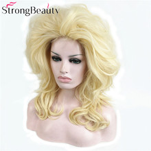 StrongBeauty Synthetic Long Curly Wig Blonde Wig Hair Cosplay Wigs Party Halloween Women Hair