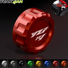 цена на 8 Color Motorcycle Accessories CNC Aluminum Rear Brake Fluid Reservoir Cover Cap For YAMAHA YZF R1 2009 2010 2011 2012 2013 2014