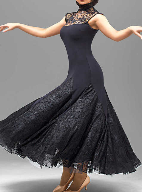 Black Lace Ballroom Dance Dress Fringe Dress Ballroom Dancing Latin