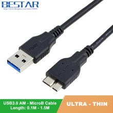 цена на 100cm USB 3.0 A Male to Micro B Male data charge cable for Samsung Galaxy Note3 N9000 S5 i9600 Note Pro & IBM thinkpad 8 Black