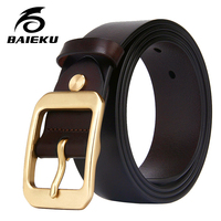BAIEKU Copper Metal Buckle Men Belt Stylish Men S Belt