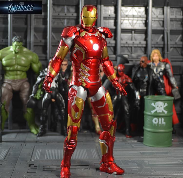 Avengers2 Iron Man Mark43 Action Figure Doll Ironman MK43 PVC ACGN figure Garage Kit Brinquedos Anime 230MM KA082 hot the avengers ironman action figure 17 5cm mk42 mk43 iron man doll pvc acgn figure toy brinquedos anime kids toys