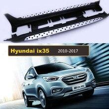 Para Hyundai ix35 2010-2017 Carro Estribos Passo Lado Auto Nerf Bar Pedais Marca de Alta Qualidade Novo modelo de partículas Circular bares