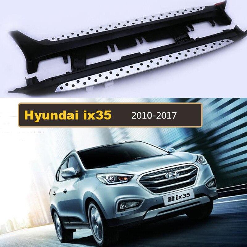 Pour Hyundai ix35 2010-2017 marchepieds Auto côté marchepied pédales haute qualité tout nouveau modèle de particules circulaires Nerf Bars