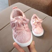 Новые модные детские Нескользящие мягкие кроссовки для девочек и мальчиков; повседневная обувь для малышей; милые кроссовки для бега; весенние детские спортивные кроссовки