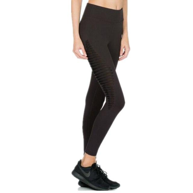 S-XL Fashion Woman Leggings Black Ankle-Length Striped Cotton Legging Mid Waist Spandex Polyester Knitted Slim leggings Womenn
