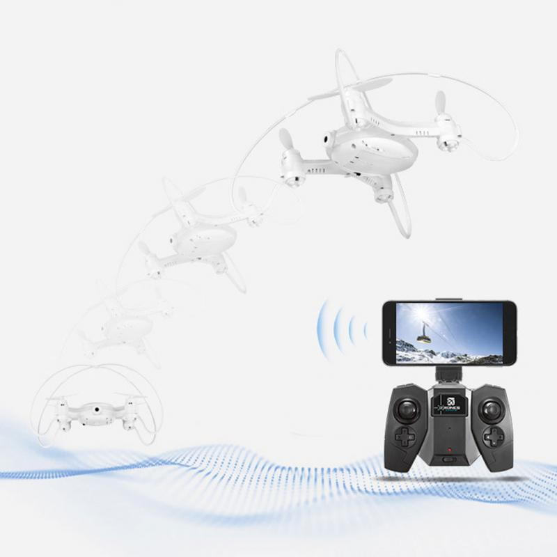 MT856 2.4G LED 4-axis Remote Control 3D Roll WiFi RC Quadcopter Helicopter Mode Drone 0.3MP HD Camera Aircraft