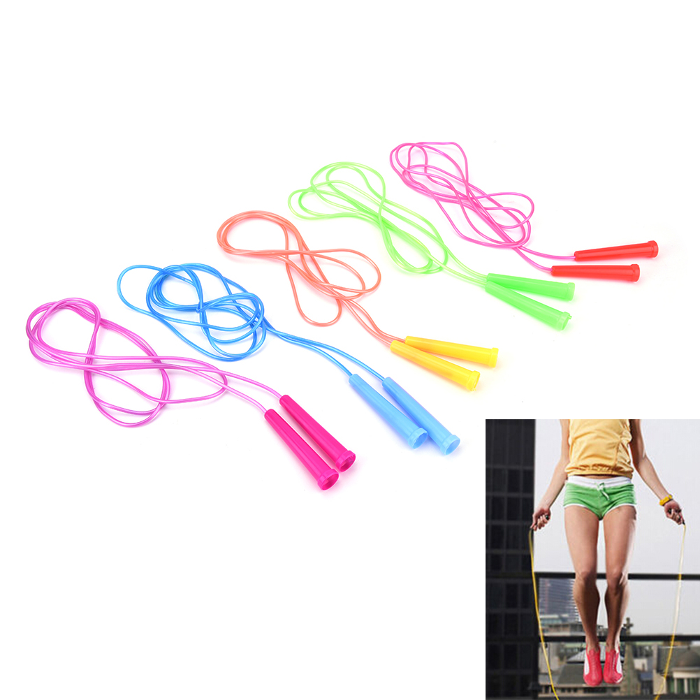 1 PCS 2.4m Colorful Speed Wire Skipping Adjustable Jump Rope Fitness Sport Exercise Cross Fit Student Kids