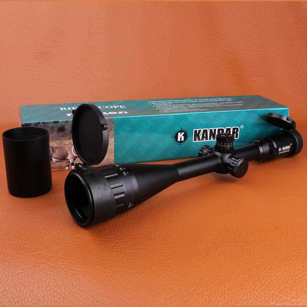 KANDAR 6-24X50AOE Mil-dot Metal Wire Locking Hunting Riflescope Equipment Tactical Optical Sights For Hunter leapers utg 3 9x32 1maol mil dot hunting riflescope with sun shade tactical optical sight tube hunting equipment for hunter