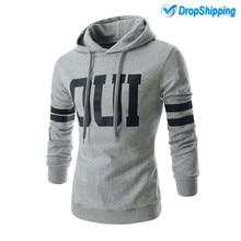 2019 Streetwear Mens Hoodies Fashion Patchwork Hooded Sweatshirt Coat Slim Sportswear Tracksuit Masculino