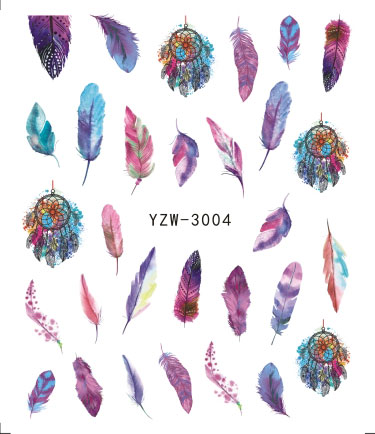 1 Piece Nail Water Sticker Feather Dreamcatcher Design For Nails Art Decal Slider Wraps Decor Tip Manicure