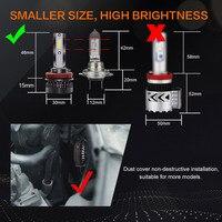 מנורות לרכב FUXUAN 2pcs H7 LED 100W / זוג מיני רכב פנס נורות H1 LED H7 H8 H9 H11 פנסים קיט 9005 HB3 9006 HB4 לרכב LED מנורות (5)