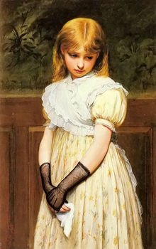 Charles Sillem Lidderdale Petulance Young Girl Oil Painting on Canvas Hand Painted for Home Decor No Framed Figure Vertical