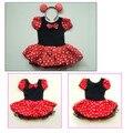 Mejor Regalo de los niños Del Ratón de Minnie Pary Disfraz Girls Ballet Tutu Dress + Ear 2-8Y
