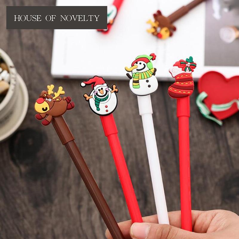 Special Christmas Stocking Snowman Gel Pen Ink Marker Pen School Office Supply Escolar Papelaria
