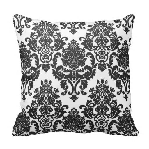 Cuscini Damascati Per Divani.Alto Bianco Nero Damascato Cuscino Dimensioni 45x45 Cm