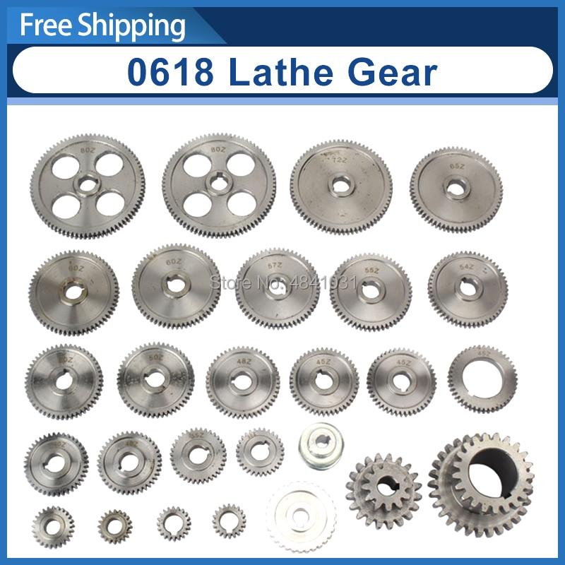 18pcs set mini lathe gears lathe gears CJ0618 Metal Cutting Machine gears