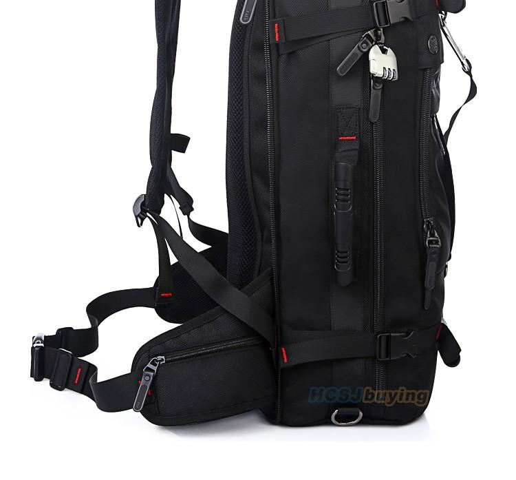 KAKA Men Backpack Travel Bag Large Capacity Versatile Utility Mountaineering Multifunctional Waterproof Backpack Luggage Bag 7