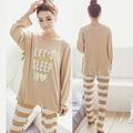 Novas Mulheres Pijamas Sleepwear Conjuntos de Pijama Define Pijama Macio Pijamas Mulheres Camisola Estilo de Moda Femme