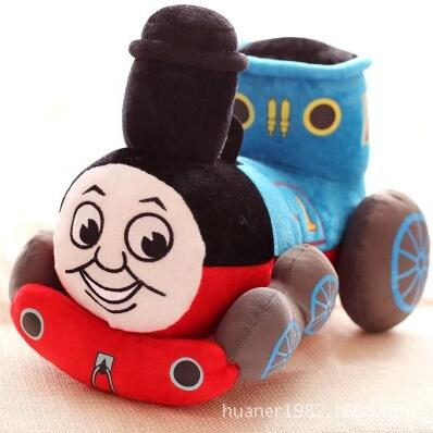 38cm Kawaii Blue Tank Train Thomas & Friends Stuffed Plush Toy Doll for Baby Girl Boy Bi ...