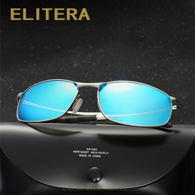 ELITERA  Men Polarized Sunglasses Classic Men Retro Vintage Shades Brand Designer Sun glasses UV400