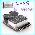 Para 1-8 S Lipo/Li-ion/Fe Voltaje de La Batería 2IN1 Del Probador de Bajo Voltaje Zumbador Venta Caliente