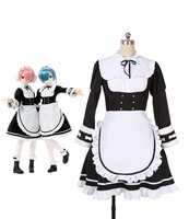 Re:Life in a different World from Zero OVA Memory Snow Rem Ram Cosplay Costume Dress Custom Made