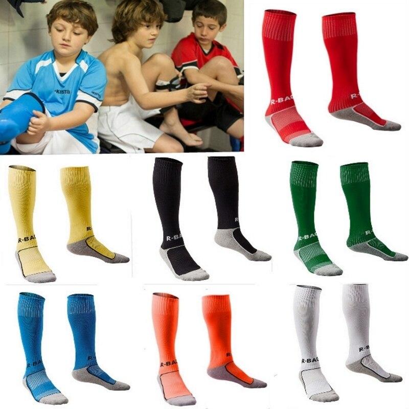 ca1532dddf3 10 colors kids boy Sport Baseball Football Soccer Plain Long Socks Over Knee  High Sock Hockey Boys Soccer Sock