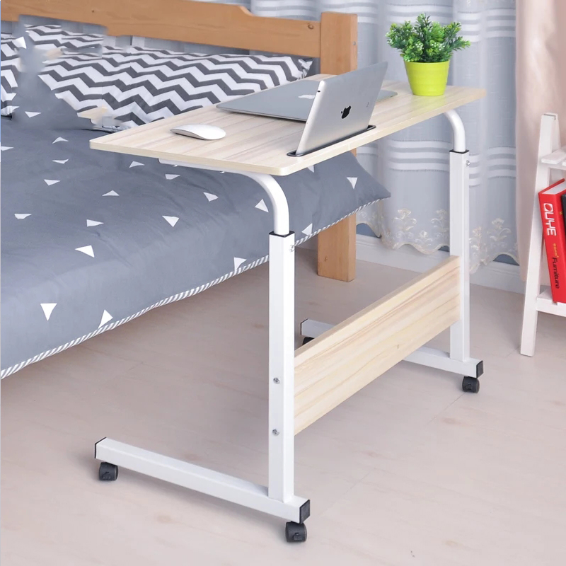 Foldable Computer Table Adjustable Portable Laptop Desk 80*40CM Rotate Laptop Bed Table Can Be Lifted Standing Desk