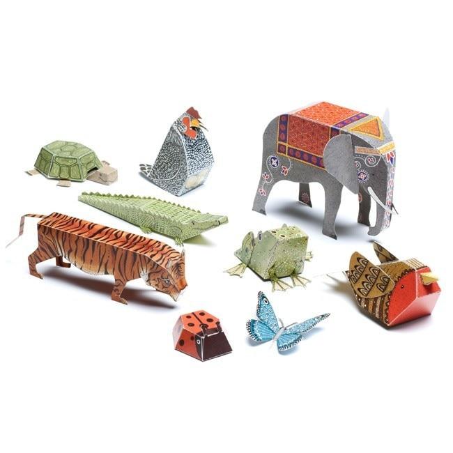 12pcs / pack životinja kartona 3D zagonetke / DIY rezati knjigu / - Igre i zagonetke - Foto 4
