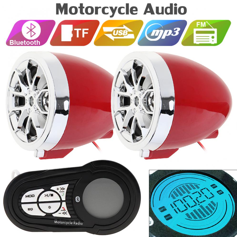 30W Motorcycle Waterproof Anti-theft Bluetooth MP3 Speaker Player Support AUX-IN Audio Input /USB/TF With Remote Control