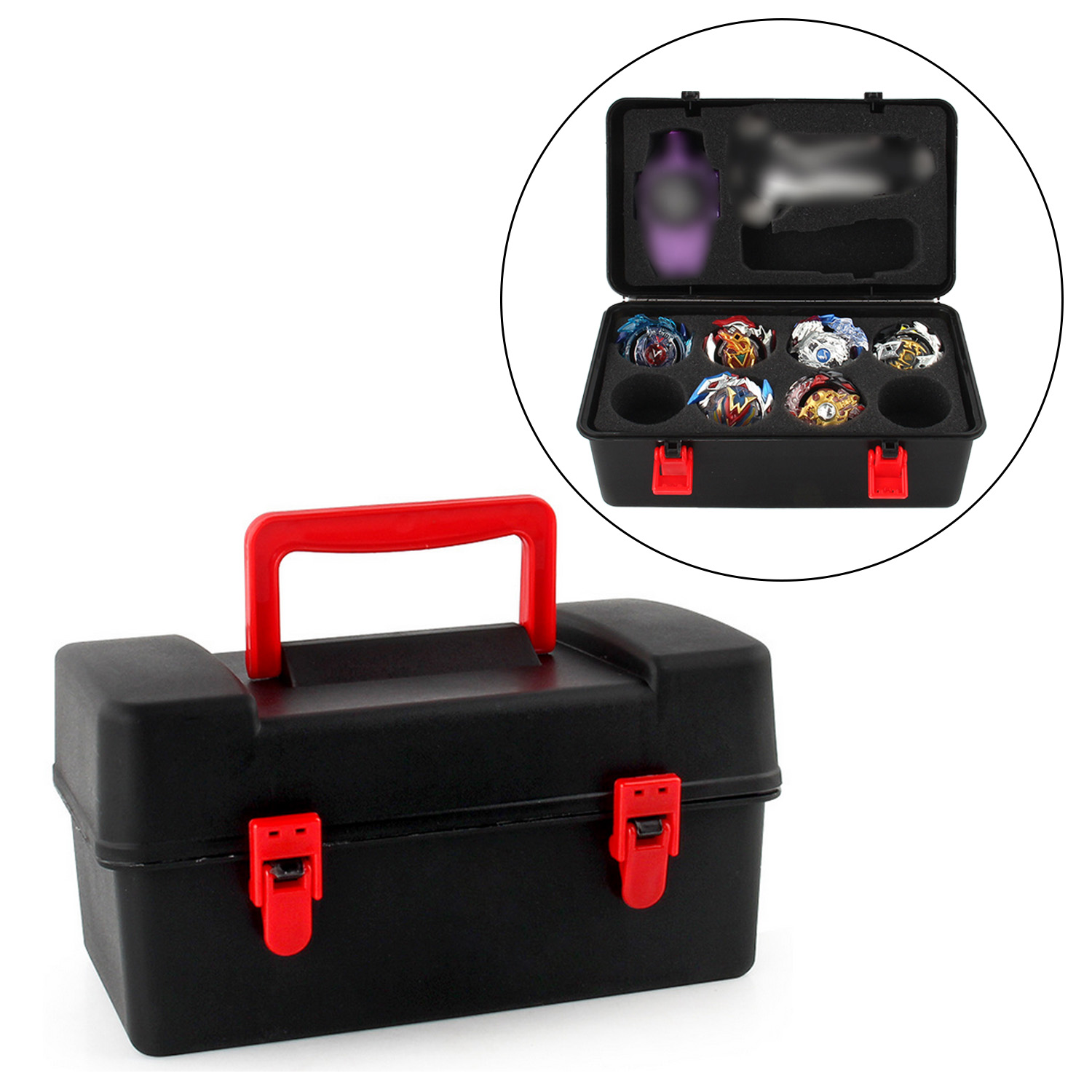 Beyblade Burst Funsion 4d Spinning Top Storage Spinner Carrying Case Box Locker Case Organizer Burst Toys for Kids