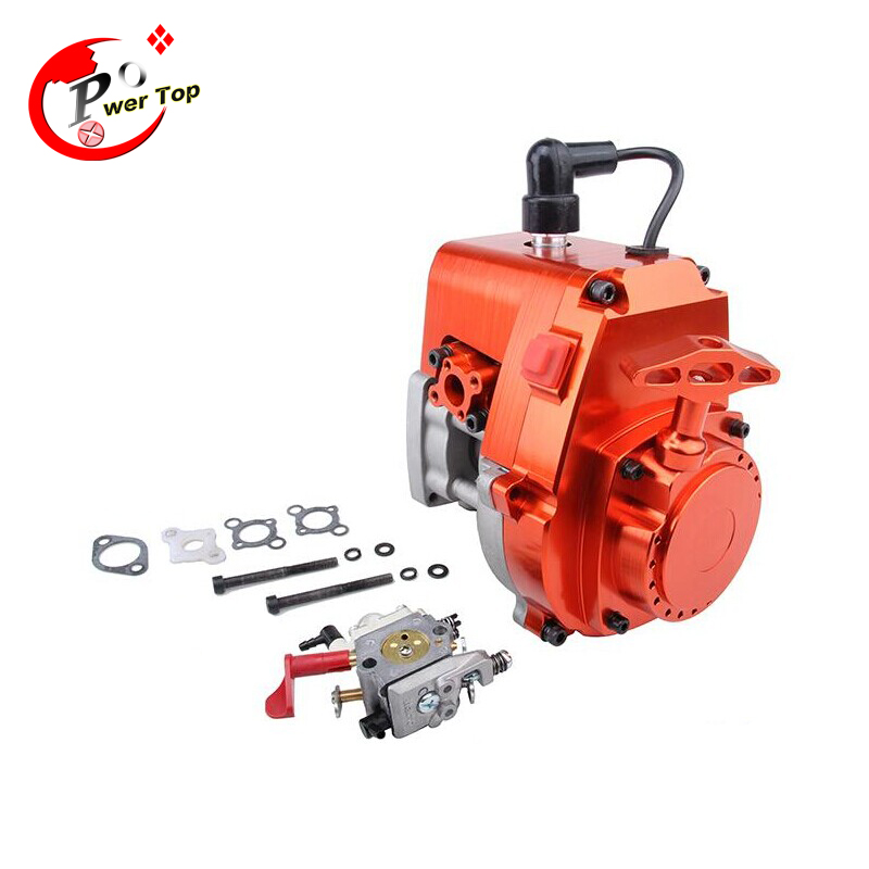 CNC 30.5CC chrome 4-Bolt Engine(with WALBRO 668+NGK spark plug) for hpi km rovan baja 5b 5t 5sc 26cc 29cc engine set flywheel ignition coil engine stop switch ngk spark plug for 1 5 rovan baja km hpi