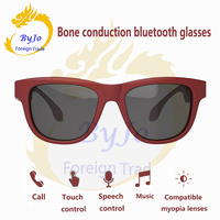 Gombes Newest Bluetooth Headphones Sunglasses Music Microphone Bone Conduction Headset Touch Control Compatible With Myopia Lens