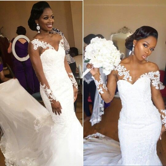 Real african american weddings images for American girl wedding dress